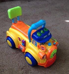 Толокар машинка паровоз детский