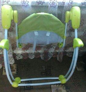 Детский шезлонг-качеля
