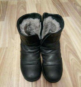 Зимние ботинки для мальчика кожа/натуральный мех