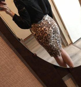 Новая джинсовая юбка карандаш River Island 42-44