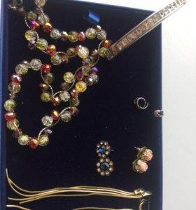 Серьги  браслет ожерелье