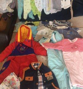 3 пакета одежды для мальчика 1-18 мес