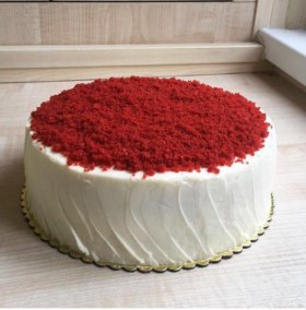 Торт  на заказ ,красный бархат ( домашняя выпечка)