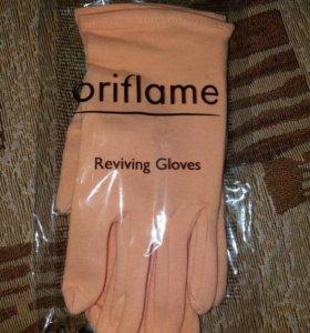 Перчатки новые для ухода за ручками.