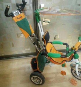 Велосипед 3-колесный с ручкой Safari