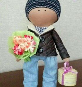 Текстильная кукла-мальчик