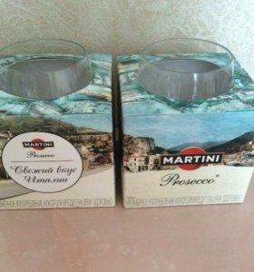 Новые бокалы (стаканы) MARTINI Prosecco
