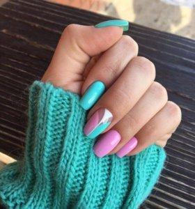Наращивание ногтей и покрытие гель лаком