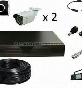 Комплект видеонаблюдения с камерами 1мп и 2мп