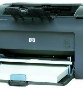 Принтер HP LaserJet 1010 + картриджи