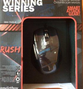 Игровая мышь Smartbuy 702, 7 кнопок. Black