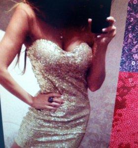 Платье паетка новое