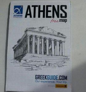 Карта Афины бесплатно