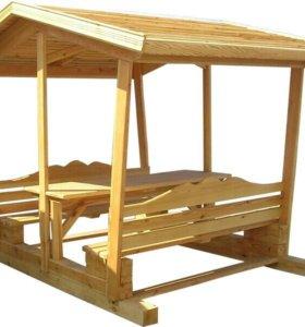 Беседки для дачи деревянные на заказ
