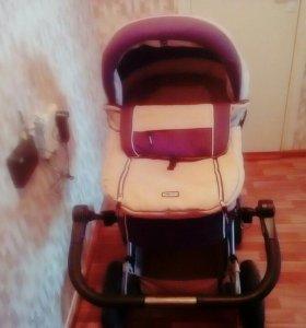 Детская коляска люлька+ прогулочный блок