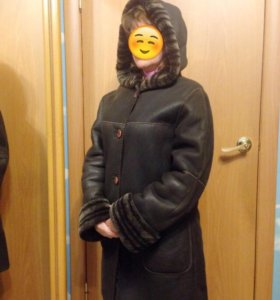 Двухсторонняя дублёнка пальто