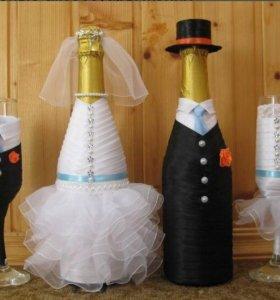 Декор бутылок на заказ