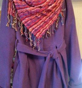 Пальто деми и шарф в подарок