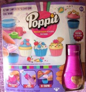 Застывающий пластилин Poppit пирожные с формером