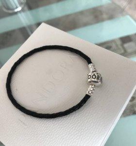 Pandora кожаный браслет оригинал