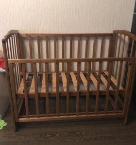 Кровать детская, продольный маятник
