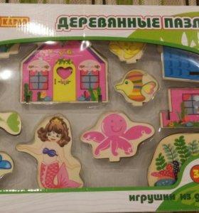 """""""Подводный мир"""" - деревянный пазл для девочек"""