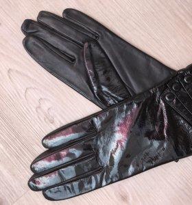 Кожаные перчатки, рр 7-7,5