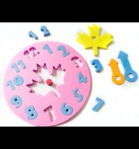Часы игрушечные,развивающие