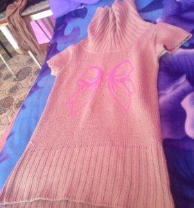 Платье-кофта тёплая