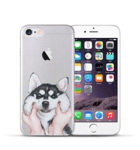 Чехол на iPhone с хаски