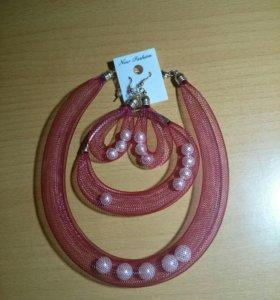 Ожерелье,серьги,браслет