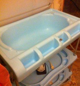 Детская ванна с пеленальным столиком