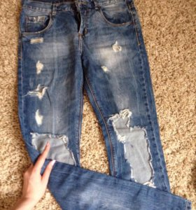 Zara рваные джинсы