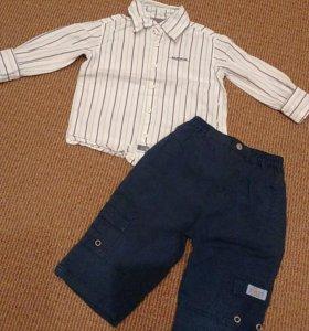 Брюки + рубашка, 74-80 см.
