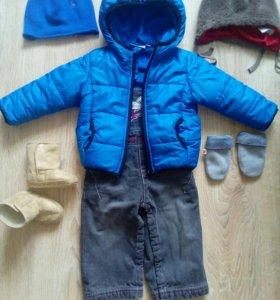 Куртка,джинсы,шапочки и угги