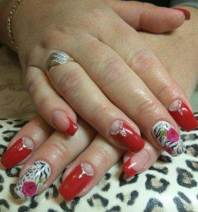 Профессиональное наращивание ногтей !!!