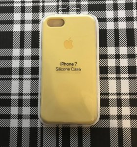 Чехол для айфона 7 желтого цвета