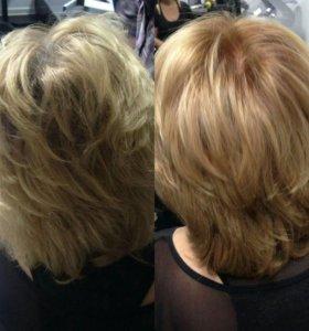 Окрашивание волос!