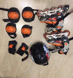 Детские ролики размер 29,30,31,32, шлем, защита
