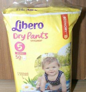 трусики-подгузники Libero Dry pants 5 50шт 10-14кг