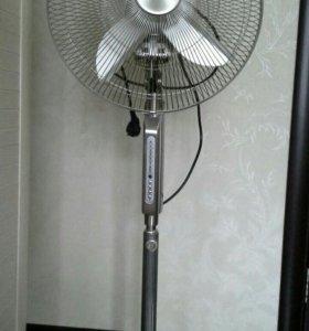 Металлический вентилятор напольный