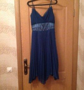 Платье шифоновое с шелковой вставкой