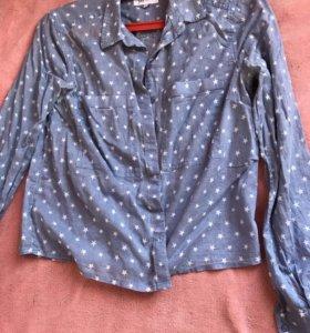 Рубашка голубая