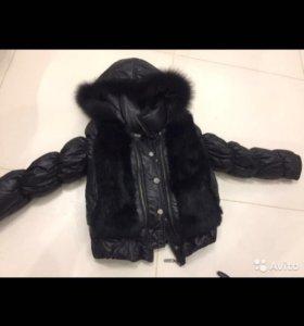 Куртка пуховик на девочку 125-143