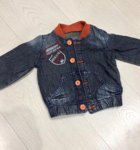 Джинсовая курточка Gee Jay 12-18м рост 80