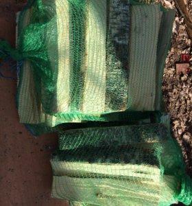 Дрова березовые в сетках