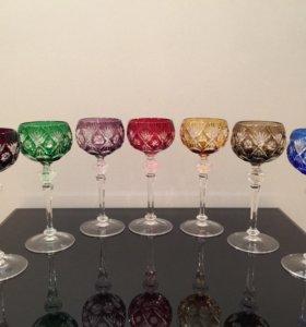 Семь бокалов для вина WMF. Германия .
