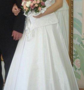 Платье свадебное,р.48