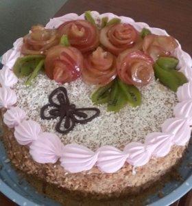 Домашние тортики (медовые и бисквитные)