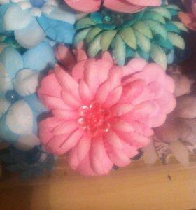 Цветы ручной работы,скрапбукинг.